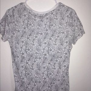 black and white floral t-shirt